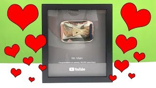 YOUTUBE PLAY BUTTON | THANKS FOR YOUR SUPPORT AND LOVE
