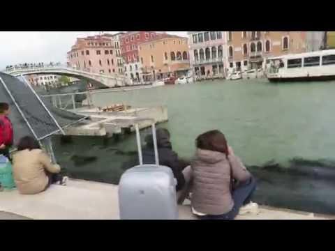 Walk from Venice Train station - Venezia Santa Lucia - into Venice