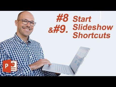 #8: Start Slide Show Shortcuts (Microsoft PowerPoint Shortcuts)