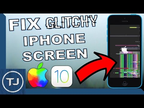 How To Fix Glitchy iPhone Screen (Any iPhone) Easy Tutorial 2017!