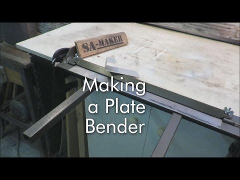 How to make a plate bender (sheet metal brake)