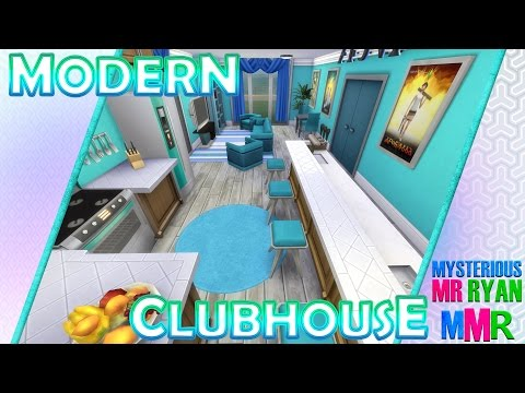 MMR | The Sims 4 Room Build | Modern Clubhouse