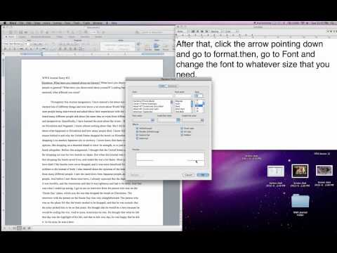 Increase period sizes in a paper or essay on a Mac