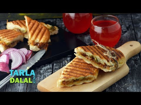 Caramelized Onions and Cheese Panini by Tarla Dalal
