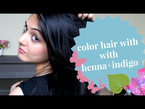How to color your hair black/brown with henna+indigo: say bye to chemical dyes.