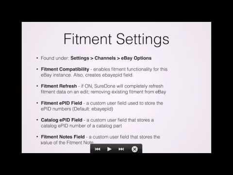 SureDone Fitment Training (2 of 4): Fitment Settings