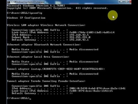 how to find your own computer's ip address using cmd in windows