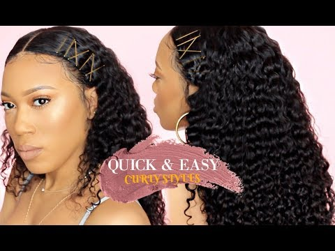 QUICK & EASY HAIRSTYLES FOR CURLY HAIR  BOBBY PINS  WESTKISS HAIR