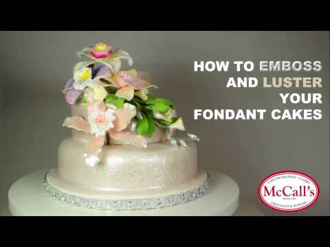 How to Emboss with Luster Dust on your Fondant