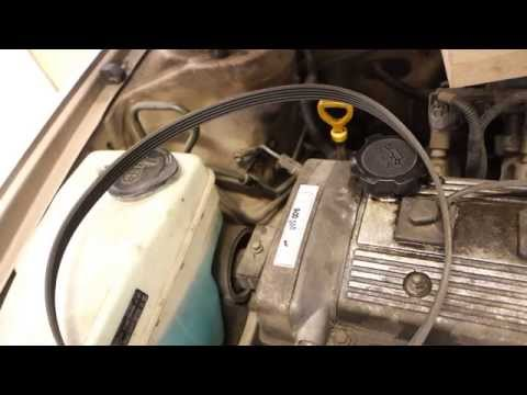 How to replace drive belt Toyota Corolla. Years 1991 to 2000