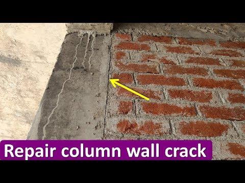 HOW TO REPAIR COLUMN-WALL CRACK