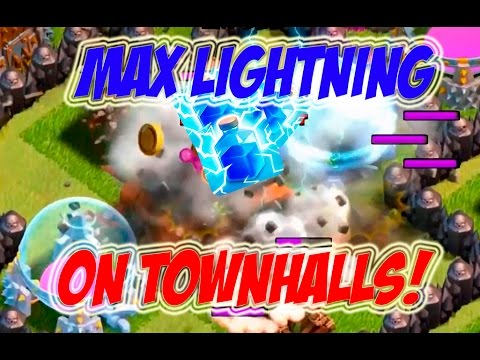 MAX LIGHTNING SPELL LEVEL 7 + EARTHQUAKE | Clash Of Clans | HIGH LEVEL TOWNHALLS