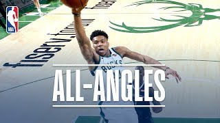 ALL-ANGLES | Giannis' INCREDIBLE Free Throw Line Dunk!