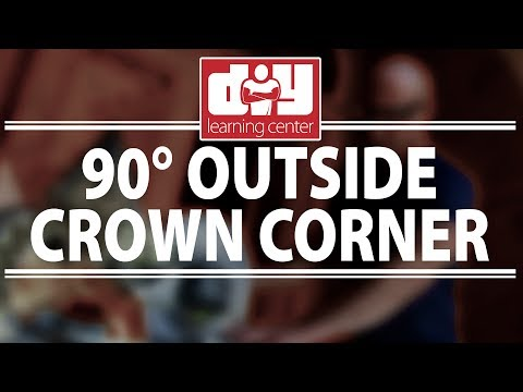 How to cut outside 90 degree crown molding corners
