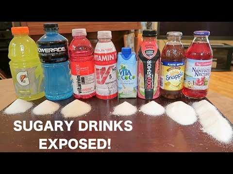 Sugar Amounts Exposed In Popular Hydration Drinks!