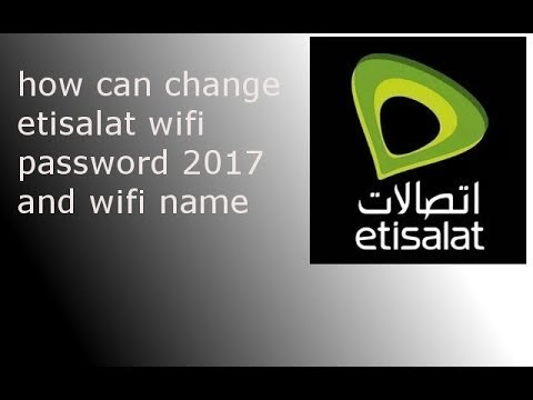 How can change WiFi password Etisalat router Android Phone| and computer, urdu and hindi  UAE 2017