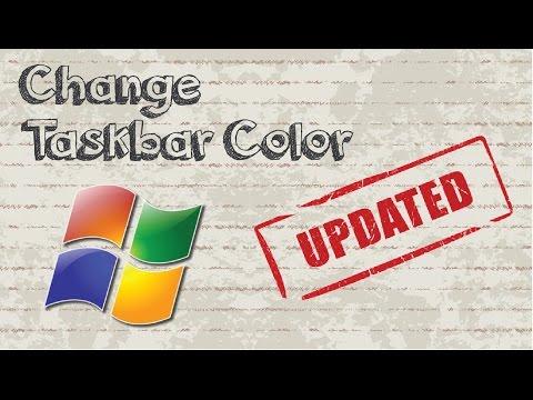 How to change taskbar color Windows 7