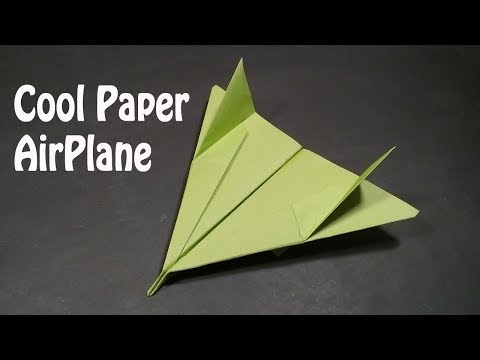 How to Make a Cool Paper Airplane Easy - Best Origami Bomber Airplane