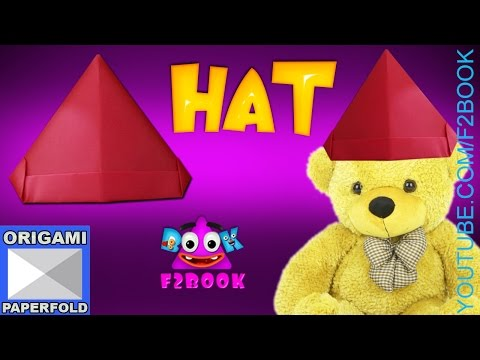 Christmas Hat Simple for Children - How to Make a Paper Hat  Video 57 - F2BOOK