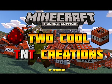 Minecraft Pocket Edition- 2 Cool TNT Creations