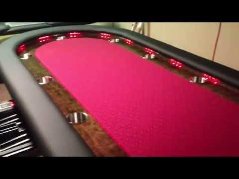 Custom Lighted Poker Table 94 Change LED Lights