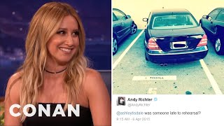 Ashley Tisdale's Twitter Spat With Andy Richter  - CONAN on TBS