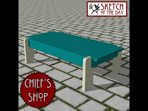 Chief's Shop Sketch of the Day: Quad Bench