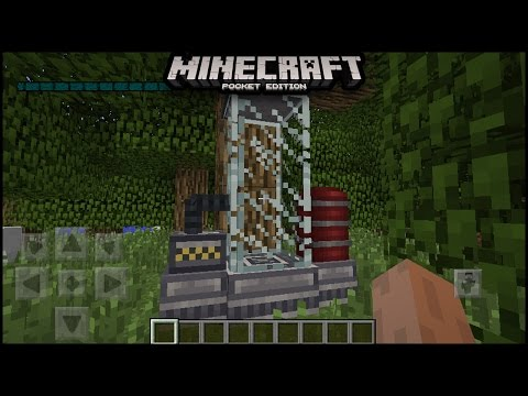 How To Build A Time Machine In Minecraft pe | mcpe ( pocket edition ) minecraft pe time machine