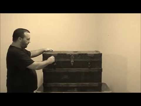 How to restore an antique trunk - Part 1 - www.antiquetrunksandchests.com