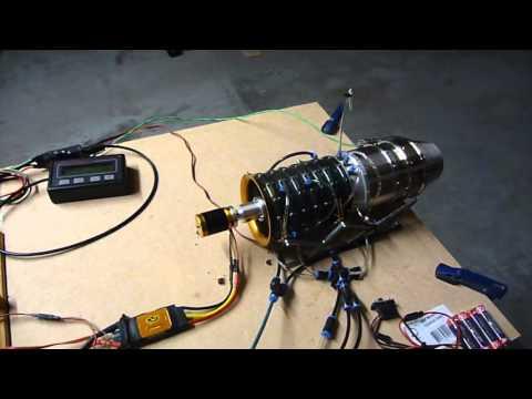 Mini Turbojet engine, 1st short test on gas only.