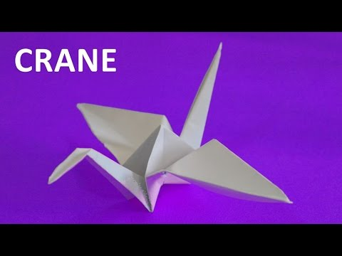 How to make a paper crane. Origami tutorials. Educational video for children
