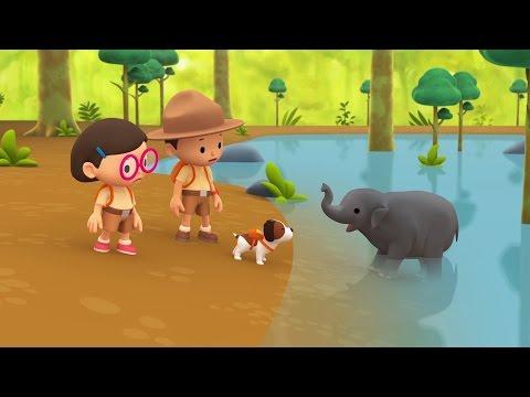 Cartoon | Asian Elephant | Learning For Kids | Leo The Wildlife Ranger #122