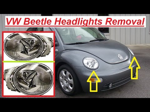 VW Beetle Headlight Removal / Replacement and Light Bulb replacement
