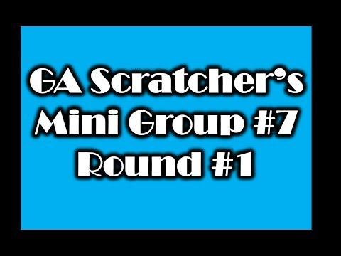 Not a bad start!!! GA Scratcher's Mini Group Book #7 Round #1