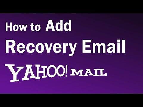 How To Add Recovery Email In Yahoo   Yahoo mail Recovery Email