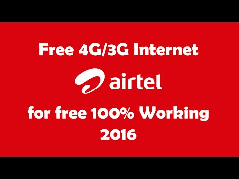 Airtel Free 4G/3G internet works all over the India ||100% working! 2016