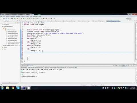 Java Programming - Bank Charges
