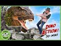 T Rex Adventure 30 Minutes Giant Dinosaur Chases Park Ranger Who Rescues Dino Eggs With Nerf Toys