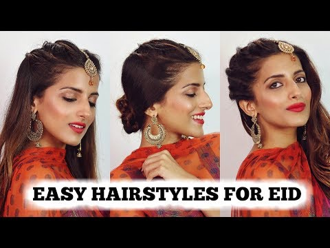 2 MIN EASY EID Hairstyles For Girls 2018 / Eid Special Hairstyle For Medium To Long Hair