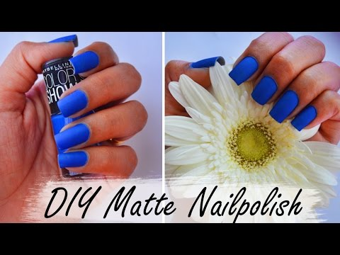 DIY MATTE NAILS | Turn any nail polish into matte in 2 minutes- 2 METHODS