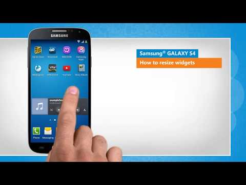 How to Resize Widgets on Samsung® GALAXY S4