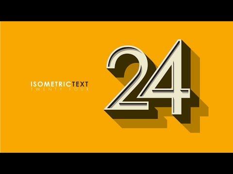 Create Isometric Text Effect | Illustrator Tutorial