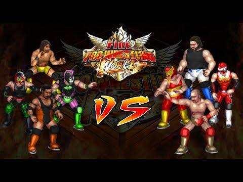 Fire Pro Wrestling World Highlights: Jerarquía vs SPW Faces