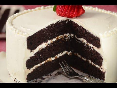 Chocolate Cake with Swiss Buttercream Recipe Demonstration - Joyofbaking.com