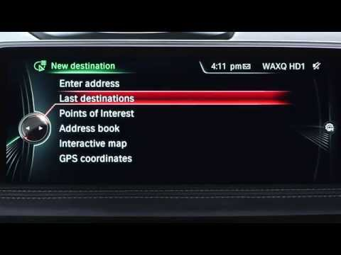 Access a Previous Destination and Start Guidance | BMW Genius How-To
