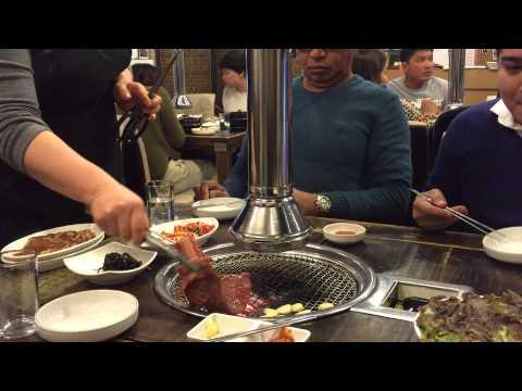 Korean BBQ restaurant, Myeongdong