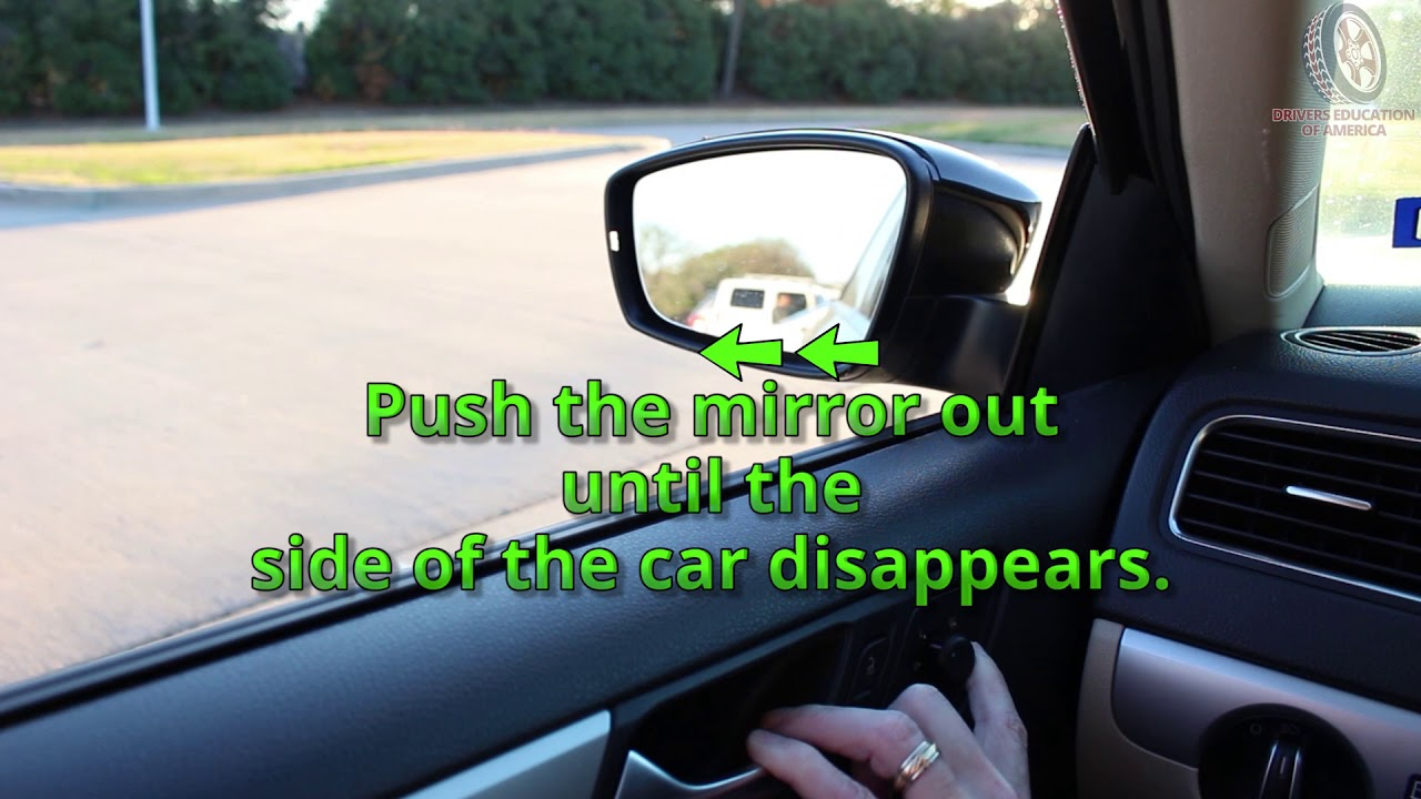 Online Texas Six Hour Adult Drivers Ed Course - Adjusting Your Side Mirrors - Traditional Method