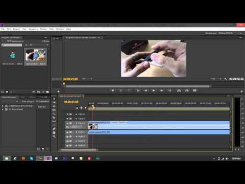 Convert Videos to MP4 using Adobe Premiere Pro CS6