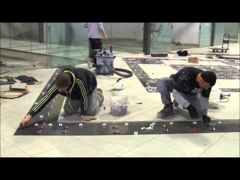 Custom Design on the floor with T-LOCK™ Tile spacers