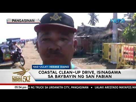 Coastal clean-up drive, isinagawa sa baybayin ng San Fabian, Pangasinan